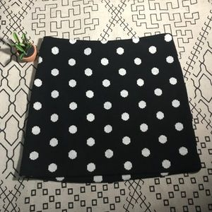 alice and olivia | black polka dot elena skirt